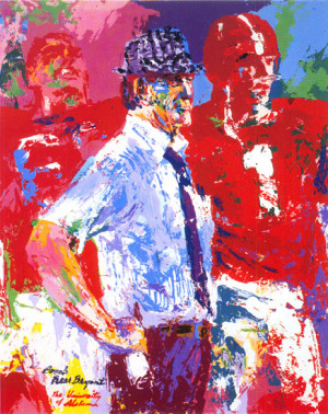 leroy neiman nieman serigraph football bear bryant college football ...