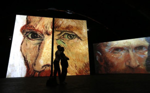 People visit the van Gogh Alive exhibition in St. Petersburg, Russia ...