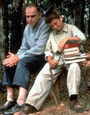Billy Bob as Carl Childers and Lucas Black as Frank in Sling Blade ...