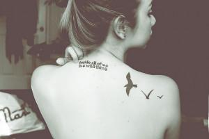 :My birds was the first tattoo I ever got. Three Little Birds ...