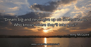 dream-big-and-never-give-up-on-those-dreams-who-knows-where-theyll ...