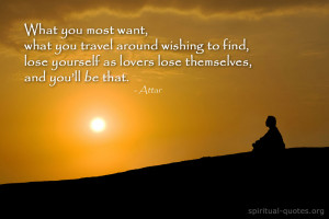 Spiritual quote about longing