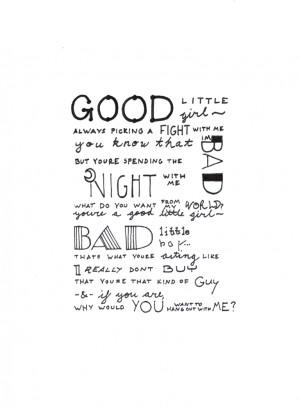 Bad Girl Tumblr Good little girl/bad little