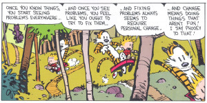 Calvin and Hobbes: Ignorance is Bliss?