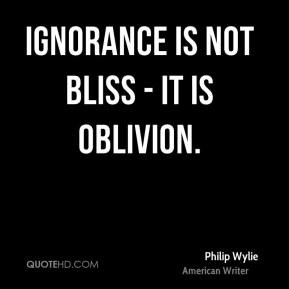 ignorance is not bliss essay