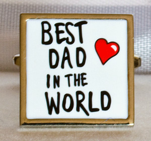 Best Dad in the World Quotes | Best Dad in the World cufflinks