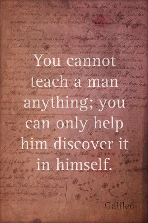 Galileo Quote Science Astronomy Math Physics Inspirational Words On ...