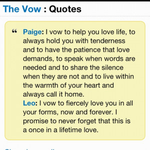 The Vow Quotes Leo The vow quotes leo quote from