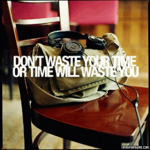 Dont Waste Your Time or Time Will Waster you – Action Quote