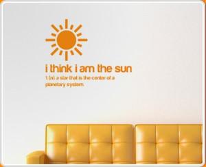 am the Sun Quote Wall Sticker