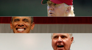 Donald Trump, Barack Obama and Rush Limbaugh are pictured. | Reuters ...