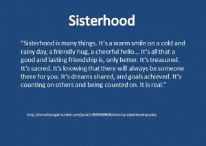 sorority sisterhood quotes