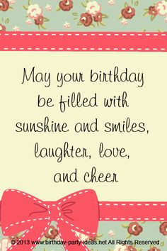 Birthday card: May your birthday be filled with sunshine and smiles ...