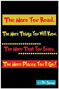 Dr-Seuss-Art-Poster-Read-Quote-Home-Decor-Nursery-8x10-Rare-Hot-New