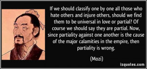 others and injure others, should we find them to be universal in love ...