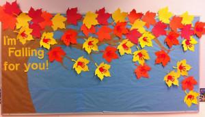 Falling for All Things Fall - Autumn Bulletin Board Idea