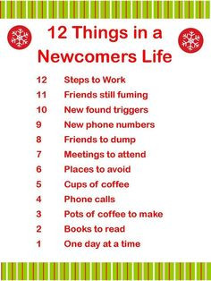 12 Things in a 12 Step Newcomers Life! #recovery #12steps #AA #NA # ...
