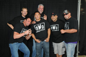 Is it me or do Scott Hall's eyes looked chinked in this photo?