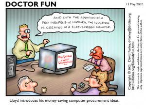 Lloyd introduces his money-saving computer procurement ideas.