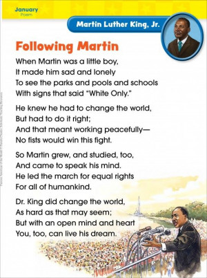 Martin Luther King Peace Poem | Martin Luther King, Jr. (January ...
