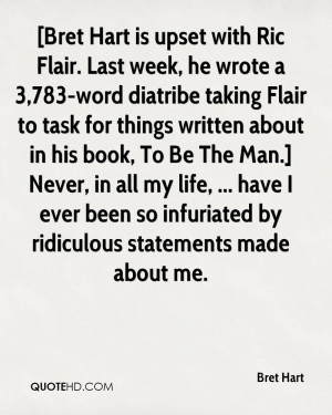 with Ric Flair. Last week, he wrote a 3,783-word diatribe taking Flair ...