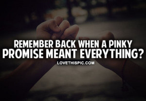 Pinky Promise Pinky promise