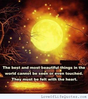 quote on beautiful things hellen keller quaote on beautiful things ...