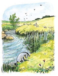 Illustrated Quote from Winnie the Pooh | Content in a Cottage