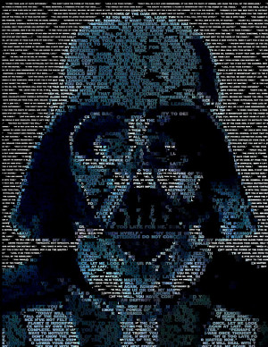 Darth Vader Quotes Mosaic Digital Art