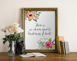 Jane Austen quote PRINT art wall decor Wall printable inspirational ...