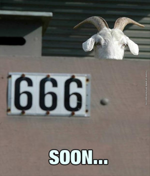 funny pictures 666 evil goat