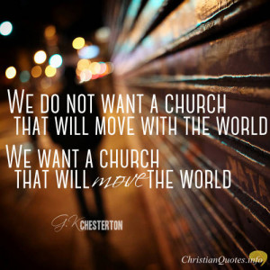 Chesterton Quote – Jesus Wants You to Be Peculiar