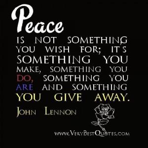 Peace quotes john lennon quotes