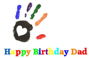 Download Dad Birthday Card with Hand Print Printable (pdf)