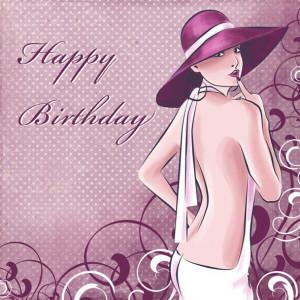 Happy Birthday Pretty Lady Happy birthday card