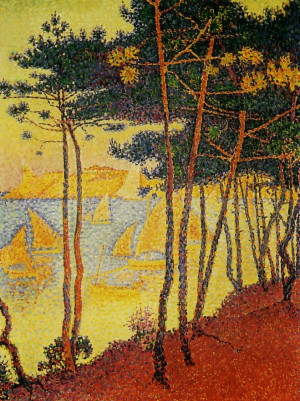 paul signac le bois de pins description paul signac 1863