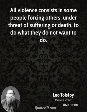 ... under threat of suffering or death, to do what they do not want to do