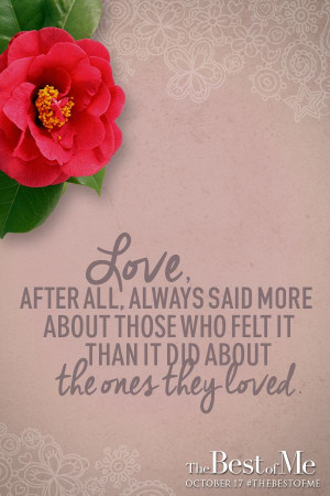 ... of first love unfold in The Best of Me - in theaters October 17, 2014