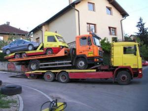 Tow truck towing a tow truck towing a tow truck towing a car!