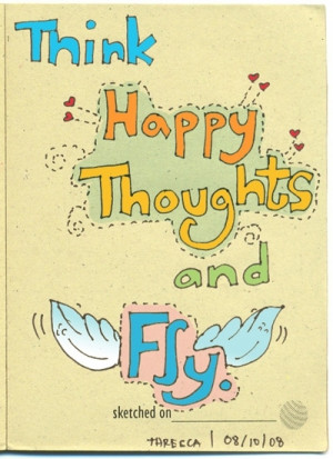 fly, free, happy, happy thoughts, quote, w