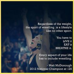 Matt MCDonough 2012 NCAA Champion from Iowa. More
