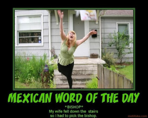 Mexican Words of the Day…