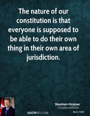 ... to be able to do their own thing in their own area of jurisdiction
