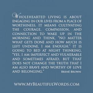 Wholehearted Living...