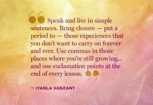 Iyanla Vanzant quote #lessons