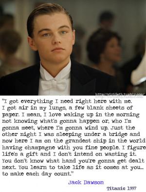 Titanic Leonardo Dicaprio Quotes