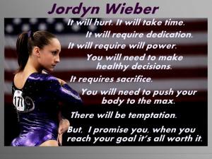 Jordyn Wieber Olympic Champion Gymnast Gymnastics Photo Quote Mini ...