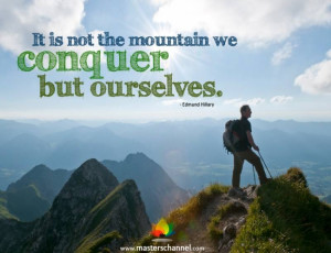 Edmund Hillary Motivational Quote
