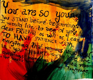 Rainer Maria Rilke quote painting