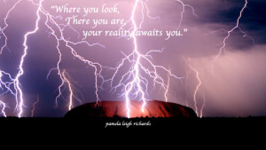 Lightning at Urumbu Pamela Quote